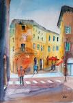 Florenz, Stadtszene, Aquarell 36x51, 160 Euro ohne Rahmen