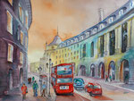 London Oxford street 45x60 cm, 230 Euro