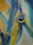 alles im Blick, Acryl und Achat auf Keilrahmen, 60x80 cm, 180 Euro