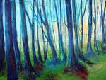 Winterwald, Acryl 60x80 cm, 220 Euro