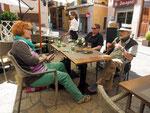 zwischendurch stärken wir uns im Restaurant in Palma