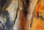 Spuren, Acryl auf Keilrahmen, 70x100 cm, im Holzschattenfugenrahmen weiss ,vergeben