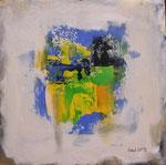 Farbspiel I, Acryl auf Keilrahmen, 30x30 cm Dreierset kompl. 140 Euro