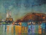 Blick auf Köln, 30x40 cm, 180 Euro ohne Rahmen