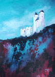 Burg Greifenstein, Acryl auf Papier, 58x76 cm, 240 Euro mit Rahmen