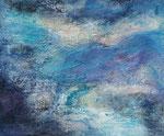 Komposition in blau, Mischtechnik, Marmormehl, Putz, Acryl 90 Euro