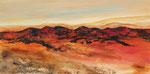 rote Berge Acryl auf Keilr. 50x100 cm 230 Euro