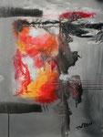 Eruption, Acryl auf Keilrahmen, 60x80 cm , Kursarbeit B Klimmer vergeben