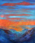 Sonnenuntergang, Acryl auf Keilrahmen 80x100 cm 230 Euro