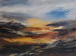 karge Landschaft, Acryl auf Keilrahmen, 60x80 cm, Kursarbeit P. Seharsch 180 Euro