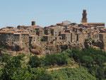 das malerische Dorf Pitiglano, ebenfalls im Süden der Toskana