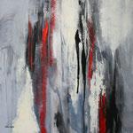 Akzente, Acryl auf Keilrahmen, 80x80 cm, Kursarbeit P. Seharsch, 190 Euro