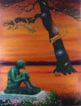 『河童伝説』  2010  F50(116.7×91.0cm) キャンバス.アクリル