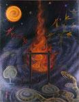 『再生への祈り』  2010  F50(116.7×91.0cm) キャンバス.アクリル