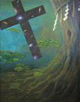 『融合』  2010  F50(116.7×91.0cm) キャンバス.   アクリル      欧美国際公募 フランス美術賞展 入選