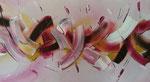 Purpel meets Banana - 33 x 60 - Acryl auf Faserplatte im Schattenfugenrahmen - 100,-