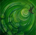 Sog in die Freiheit - 40 x 40 - Acryl auf Leinwand im Schattenfugenrahmen - verkauft