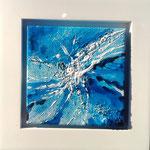 Splash - 10 x 10  Acryl  auf Leinwand im Schattenfugenrahmen  30,- Euro