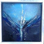 Ursprung - 15 x 15 Acryl  auf Leinwand im Schattenfugenrahmen  45,- Euro