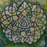 Celtic Dream - 60 x 60 - Acryl und Mixed Media auf Leinwand im Schattenfugenrahmen - 350,-