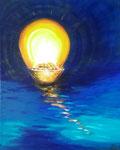 Meditation - 40 x 50 - Acryl auf Leinwand im Schattenfugenrahmen - (verkauft)