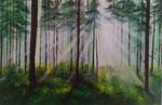 Black Forest - 60 x 80 - Acryl auf Leinwand im Schattenfugenrahmen - 450,-