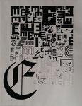 E - Tuschezeichnung (ohne Lineal) auf Papier