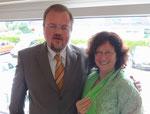 Pastpräsident Rudi Seebald und Präsidentin Kirsten Müllejans