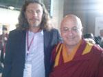 Fabien Rodhain avec Matthieu Ricard