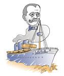 "Illustration des Buches ""Mit Störtebeker durch Hamburg"" Traveldiary Verlag"