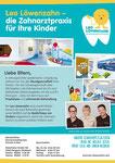 1/1 Anzeige | Layout, RZ | Kunde: Zahnarztpraxis Leo Löwenzahn
