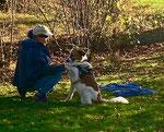 Sabine mit Maya beim Crossdogging
