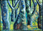 Wald, 60 x 80 cm, Acrylfarben auf Malkarton, signiert und datiert 2020