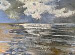 Nordsee, 55 x 71 cm, Acrylfarben auf Pappe, signiert und datiert 2020
