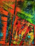 abstrakt - 1, 60 x 80 cm, Acrylfarben auf Keilrahmen, signiert und datiert 2018