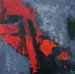 Abstrakte Komposition, 50 x 50 cm, Acrylfarben auf Keilrahmen, signiert und datiert 2020