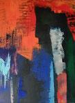 abstrakt - 7, 60 x 80 cm, Acrylfarben auf Keilrahmen, signiert und datiert 2018