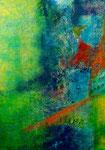 Komposition 1, 70 x 50 cm, Acrylfarben auf Malkarton, signiert und datiert 2016