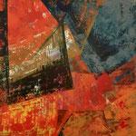 Konstruktion - 4,  100 x 100 cm, Acrylfarben auf Keilrahmen, signiert und datiert 2017