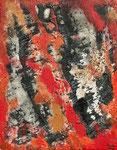 Lava-Landschaft - 2, 40 x 50 cm, Acrylfarben auf Keilrahmen, signiert und datiert 2018