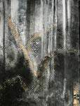 abstrakt - 3, 60 x 80 cm, Acrylfarben auf Keilrahmen, signiert und datiert 2018