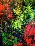 abstrakt - 2, 60 x 80 cm, Acrylfarben auf Keilrahmen, signiert und datiert 2018