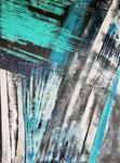 abstrakt - 9, 60 x 80 cm, Acrylfarben auf Keilrahmen, signiert und datiert 2018