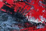 Abstrakte Komposition -, 80 x 60 cm, Acrylfarben auf Keilrahmen, signiert und datiert 2019