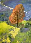 Südliche Landschaft - 2, 60 x 80 cm, Acrylfarben auf Keilrahmen, signiert und datiert 2021