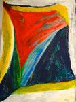 Farbenspiel 2, 70 x 50 cm, Acrylfarben auf Malkarton, signiert und datiert 2013
