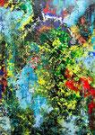 Farbkomposition - 6, 50 x 70 cm, Acrylfarbe auf Papier, signiert und datiert 2017