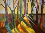 Herbstmorgen - 2, 60 x 80 cm, Acrylfarben auf Keilrahmen, signiert und datiert 2020