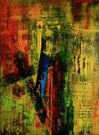 abstrakt - 8, 60 x 80 cm, Acrylfarben auf Keilrahmen, signiert und datiert 2018