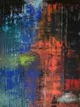 abstrakt - 6, 60 x 80 cm, Acrylfarben auf Keilrahmen, signiert und datiert 2018